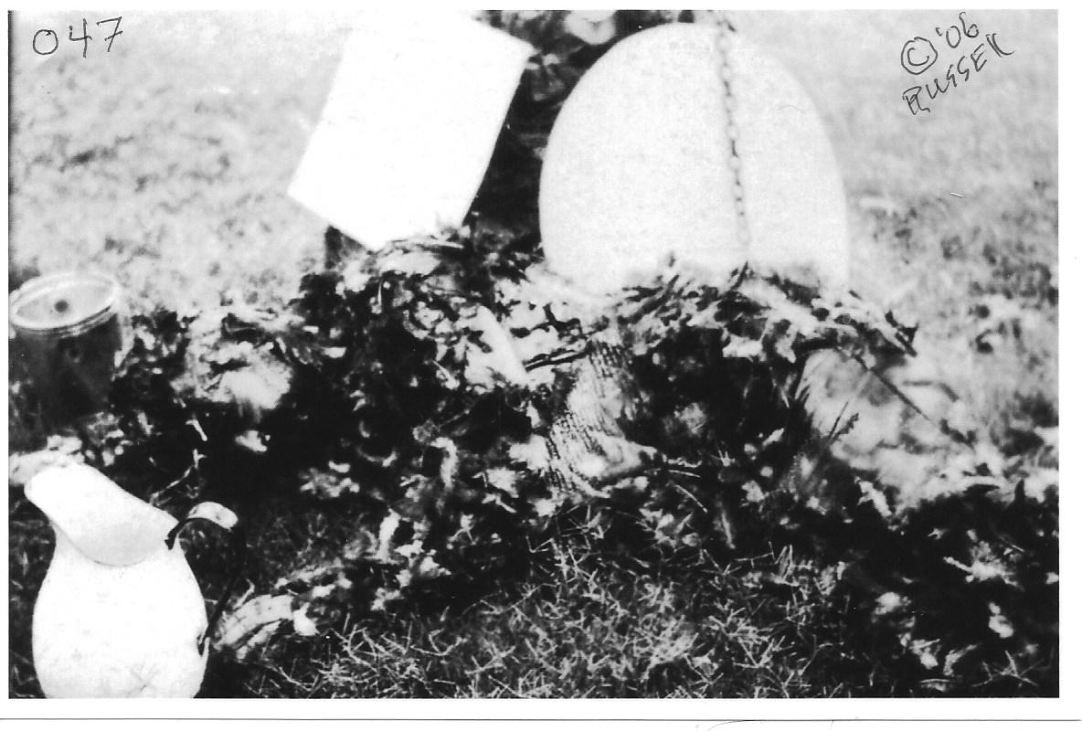 A tarred and feathered man during WW1
